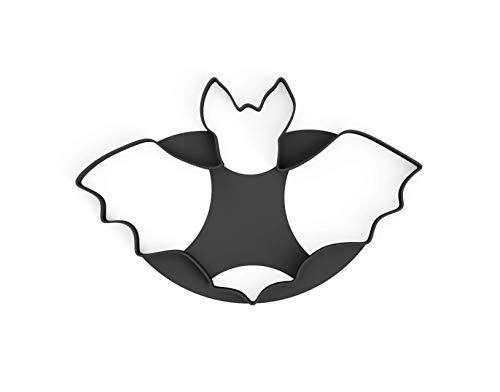 3DreamsDesign Keksausstecher Fledermaus Ausstecher Halloween Cookie Bat XXL 15cm ideal für Halloween Tortendeko mit Fondant Marzipan und Teig inkl. 2 Rezepte aus Bio Kunststoff Made in Germany