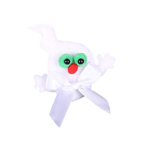 Katze Kostüm Ghost - Qjdecoy Schmuck kristall gruselig Nadel brosche Halloween kostüm zubehör Party Halloween kürbis Geist Fledermaus Katze Kinder Kinder Party brosche Nadel Ghost*
