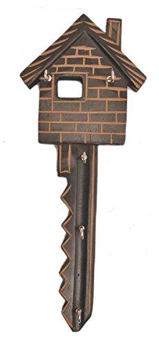 Hut chiavi design in legno intagliato a mano Wall Hanging Portachiavi con 5ganci casa cucina decorazione, regalo per Natale o compleanno ai vostri cari by Affaires w-40007