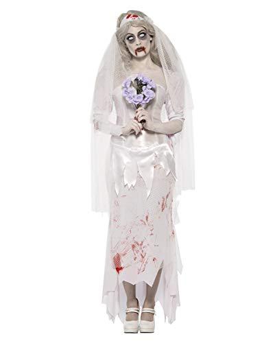 Horror-Shop Untote Zombiebraut Kostüm (Horror Brautpaar Kostüm)