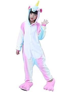 Semia Niño Unicornio Pijamas Niña Unisex Monos Ropa de Dormir Disfraz de Animal Cosplay Traje Disfraz Carnaval...