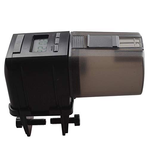 Automatischer Futterspender für Fische, LCD-Display, automatischer Futterspender, elektronischer Timer für das tägliche Füttern von Aquarien, grau