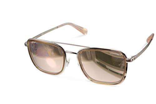 Chanel ch4241 c475/e0 - occhiali da sole glaeser, lenti specchiate, colore: rosa