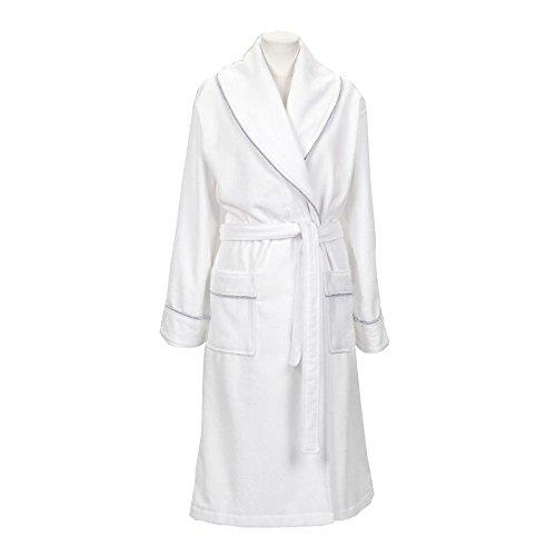 GANT Herren Bademantel Premium Velour Robe White
