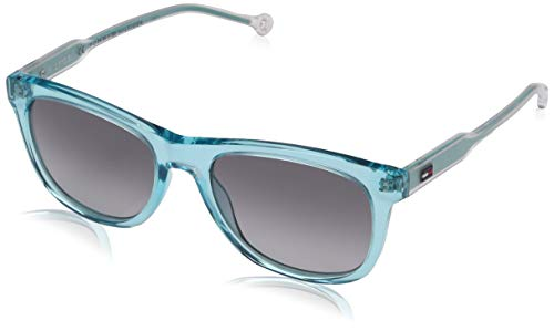 Tommy Hilfiger Unisex-Erwachsene TH 1501/S 9O 5CB 49 Sonnenbrille, Türkis (Aqua/Grey)
