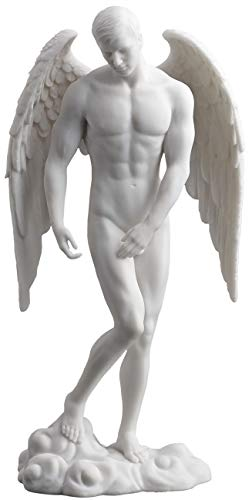 Wu Männlicher Akt Engel Statue Skulptur weiß (Bronze Engel Statue)