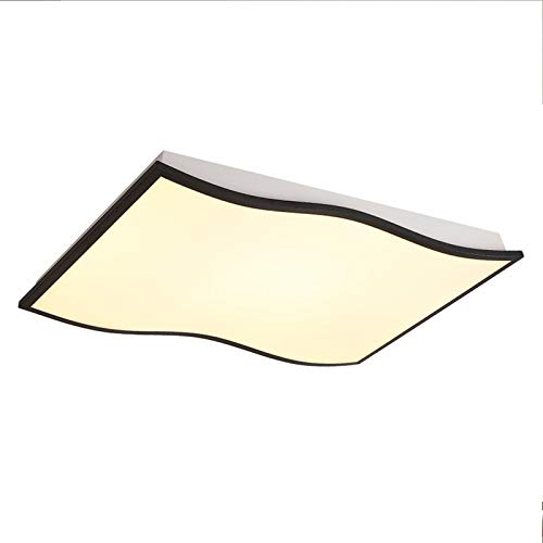 CCSUN LED Zeitgenössische Deckenleuchten 3 modi, Rechteck Acryl Decke in der nähe 120W Decke-leuchten Für Restaurant Wohnzimmer-Trichromes Dimmen 96x63cm -