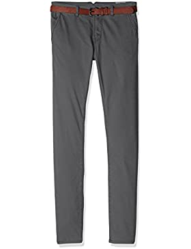 TOM TAILOR Denim Herren Hose Solid Skinny Chino with Belt