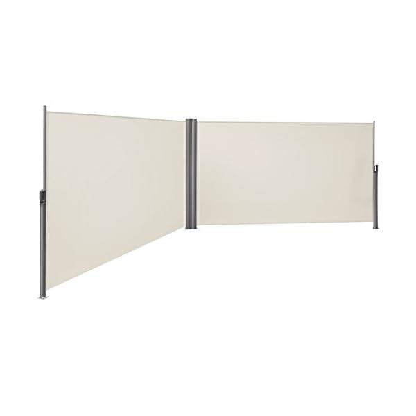 OUTLETISSIMO Gazebo Bianco 3X3 Metri RICHIUDIBILE Impermeabile con Sacca Giardino Mercato