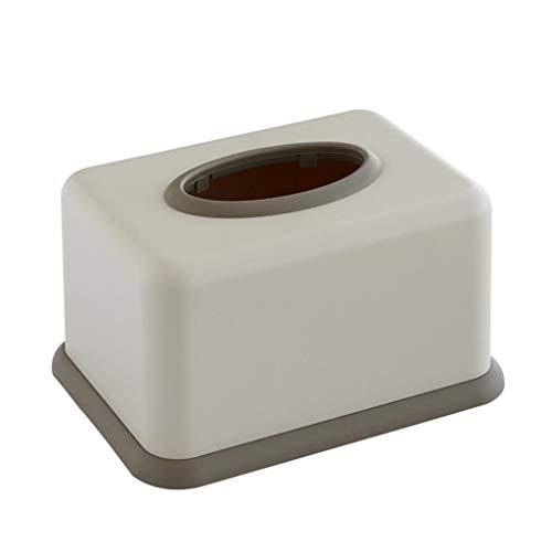 HNBY Tissue Box Cover Rechteckig Tissue Box Kunststoff Tissue Box Cover Schminktisch, Nachttisch, Schreibtisch, Pink/Grau Taschentuchhalter (Color : Gray) -