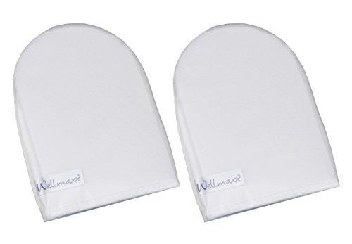 Wellmaxx Microfaser Waschhandschuh Kosmetikhandschuh Reinigungshandschuh für die Gesichtsreinigung 2er Pack