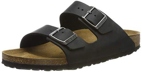 Birkenstock Arizona 552113 552113, Unisex - Erwachsene Sandalen, Schwarz (Black), 40 EU - Schwarz Leder Khaki