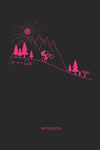 Price comparison product image Notizbuch: Mountainbike MTB Notizbuch / Geschenk für Mountainbiker,  Radsportler und Fahrrad Fans,  Frauen und Männer