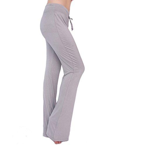 Super moderne pour femme Athletic Pantalon de yoga Longueur complète Dance Fitness Sports entraînement Pantalon Course Yoga Pants Yoga Legging Gris pastel