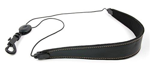 Bray's Premium universeller Schwarzer PU-Leder Saxaphon/Sax Gürtel mit bequemer Polsterfütterung und verstellbarer Schnalle - Perfekt für jeden saxophonist