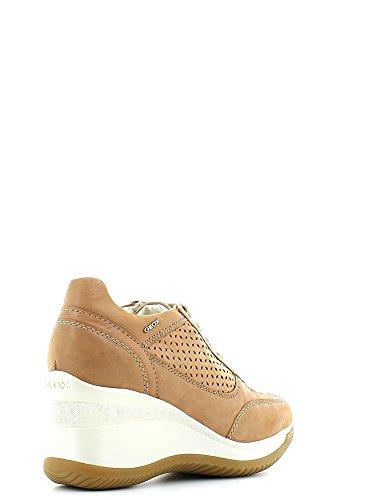 Geox D5275G000CL Sneakers Damen Leder Biscuit