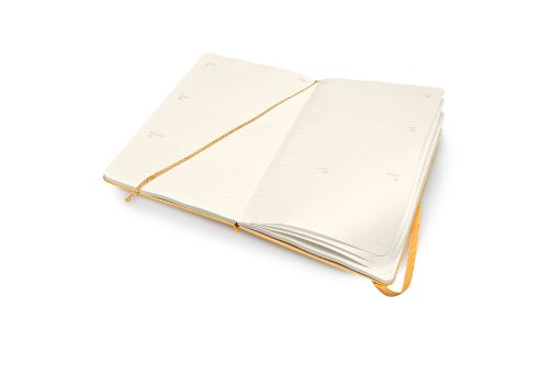 Cheapest 2015 Moleskine Large Orange Yellow Hard Weekly Horizontal Diary Discount