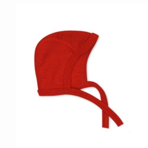 Cosilana - Gorro de 70% lana y 30% seda rojo 74/80