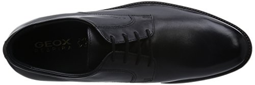 Geox U Carnaby D, Chaussures de ville homme Schwarz (BLACKC9999)