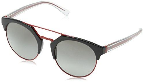 Emporio Armani Damen 0ea4092 Sonnenbrille, Schwarz (Black/Red), 53