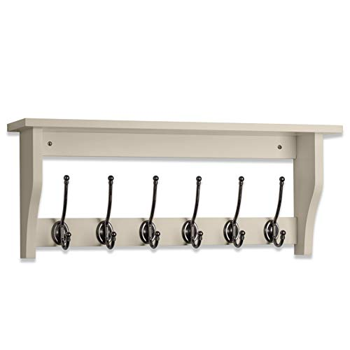 Maine Furniture Co - Perchero Pared Estante 6 Ganchos