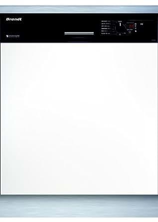 Brandt VH 916 B Semi intégré 13places A++ lave-vaisselle - Lave-vaisselles (Semi intégré, Noir, Toucher, froid, 24 cm, 33 cm)