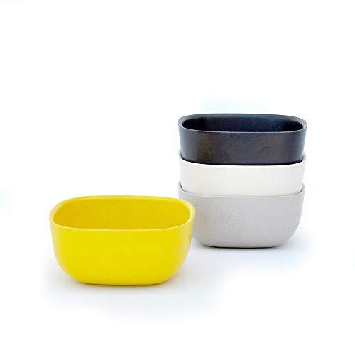 BIOBU by EKOBO-Tiny Tabby iI/34567 Gusto Petits Bols - 1 (Noir/Gris/Blanc/Jaune Citron