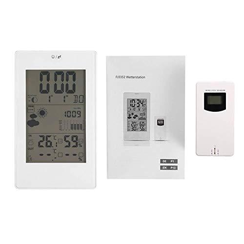 Asixx Despertador de Digitaces, Sensor de Temperatura al Aire Libre Interior de la estación meteorológica...