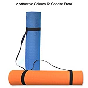 Curveit Memory Foam Non-Slip Yoga Mat for Men and Women, 72x24 Inches (Navy Blue, CurveitMudraMats)
