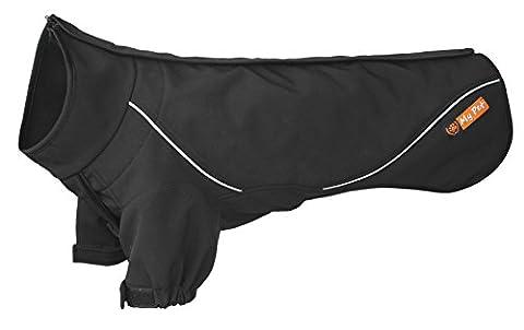 My Pet Sportliche Hund Mäntel mit Kurzen Ärmeln Reißverschluss Wasserdicht Winddicht Jacken Winter Outwear Warme Pullover Schwarz (Old English Kostüm)