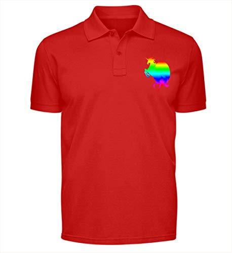 Unicórnio Sol Arco-Íris Unicorn - Polo Shirt -L-Feuerrot