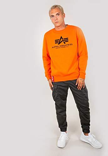 Alpha Industries Basic Sweatshirt Orange M Orange Logo Crew Neck Sweatshirt