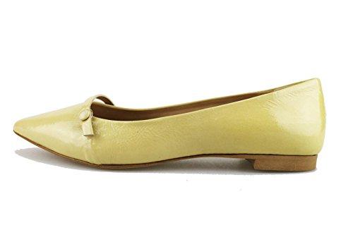 MICHEL BATIC 37 EU ballerine donna beige vernice AG454