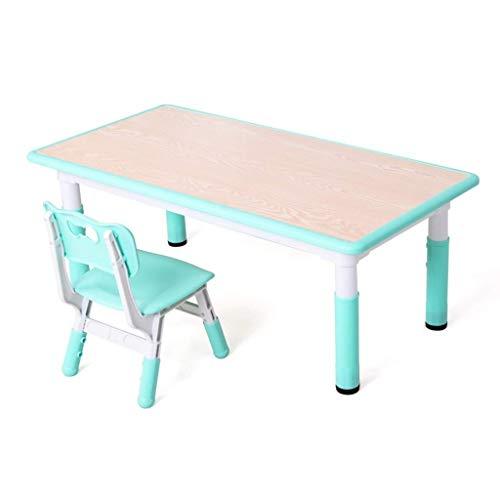TONGSH Holz Tischset für Kinder 1-5 Jahre, Aktivitätstisch Stuhlset, Studiertisch und Stuhl für Kinder, Baby Holz Tischset zum Zeichnen, Kleinkindspiel/Zeichentisch Stuhl, Spieltisch Tisch (Holz-tabelle Tischsets)