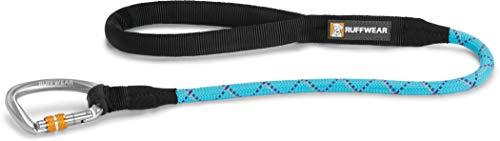 Ruffwear kurze Hundeleine mit Karabiner Clip, Alle Hunderassen, Länge: 76 cm, Durchmesser: 11 mm, Robustes Kernmantelseil, Hellblau (Blue Atoll), Knot-a-Long, 40262-409