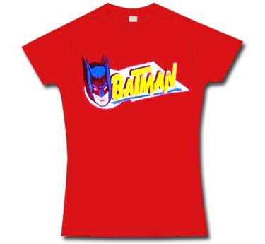 Batman * Vintage Print * Camiseta de mujer * L * ÚLTIMO ARTÍCULO EN STOCK * VENTA DE LIQUIDACIÓN *