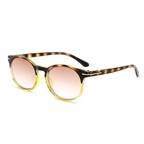 Gradient Teestück Lesebrille Sonnenbrillen Flexible Lesebrille Reader Stärke Presbyopie Brille(+1.50, Gelb)