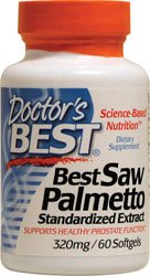 Best Saw Palmetto, Standardized Extract, 320 mg, 60 Softgels - Doctor's Best by Doctor's Best