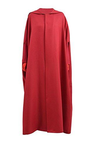 BelieveME Handmaid kostüm Halloween Cosplay Frauen Lange Maxi Casual Dress Mantel (XXXL, Nur ()