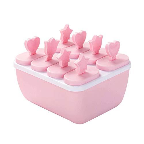 TUANTALL Eiscreme-Pop-Formen Eislutscher-Hersteller Lebensmittelqualität für den Gefrierschrank für Babynahrung stapelbar Sommer Vereinigtes Königreich cool pink