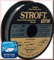 Line STROFT GTM - Hilo de pescar (monofilamento, 100m), color gris Talla:0,140mm-2,2kg