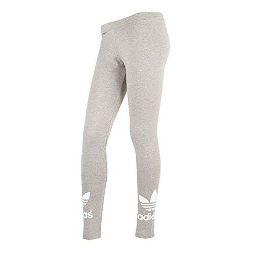 adidas Damen Leggings Trefoil, medium grey heather, 42, AJ8150