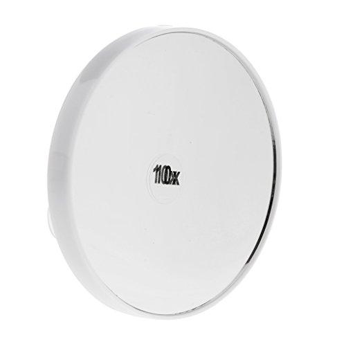 Sharplace Kosmetikspiegel Saugnapfspiegel, mit 10 Fach Vergrößerung - Weiß