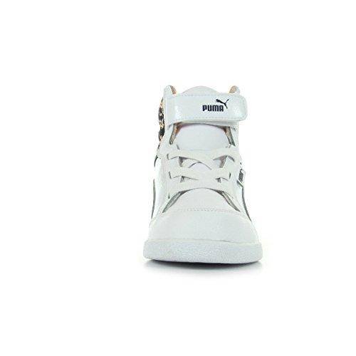 Puma Ikaz 358579/02, Baskets mode bébé fille Blanc, rose et noir