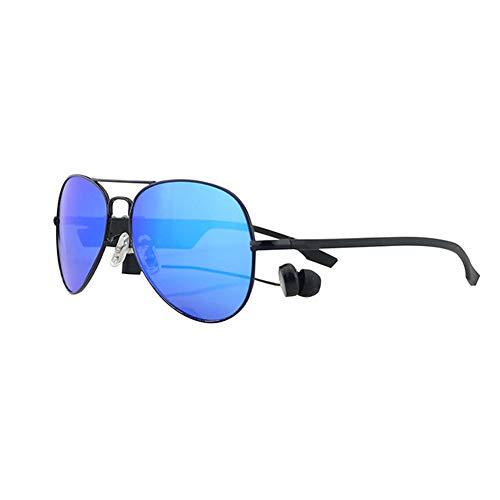 WMWHALE Audiobrille Bluetooth 4.1 Headset-Sonnenbrille Polarisiertes kabelloses Stereo-Headset EDR Freisprecheinrichtung Kopfhörer Musik Kopfhörer Outdoor-Sonnenbrille,Blue