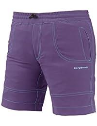TRANGO Trangoworld Ossa Pantalones Cortos, Unisex niños, Púrpura/Verde (Arcadia), 04/XXS