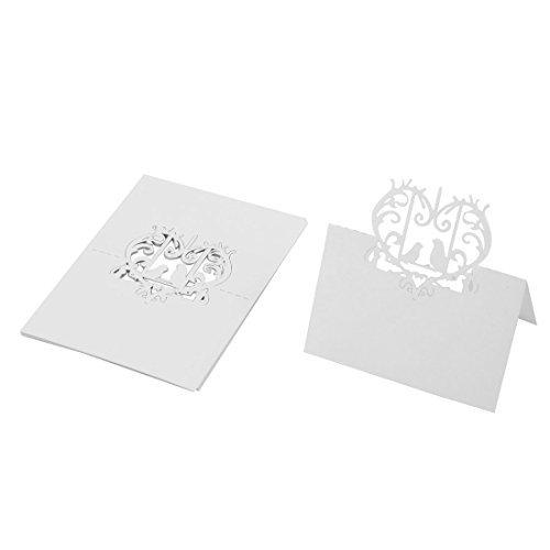 its-Party-Feier aushöhlen Design Tabellen-Namen-Platz-Karte 10pcs Weiß ()