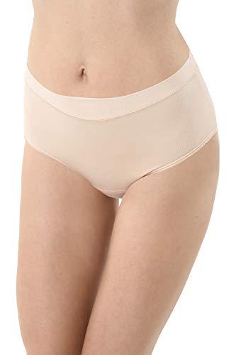 Albert Kreuz 3er-Pack Damen Taillenslip Baumwolle Elastan unsichtbar - Hautfarbe, Nude Größe XXL (44-46)