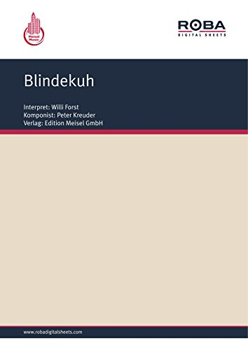 Blindekuh: as performed by Willi Forst, Single Songbook