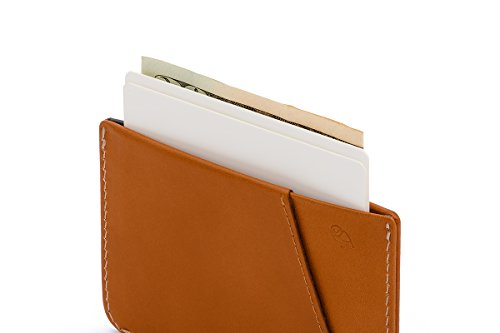 Bellroy Herren Leder Geldbörse Micro Sleeve, Farbe: Charcoal Caramel